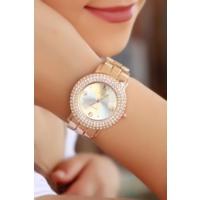 Clariss Bronz Renk Kasa Ve Kordon Tasarımlı Bayan Saat