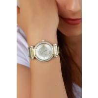 Clariss Gümüş Renk Tasarımlı Metal Kasa Ve Kordonlu Bayan Saat