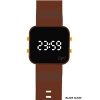 Upwatch Led Gold/Kahverengi Unisex Kol Saati