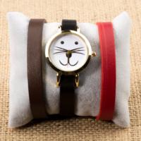 Zeblaze Tmkd006B Kedi Figürlü Tasarım Kordonu Değiştirilebilir Kadın Kol Saati