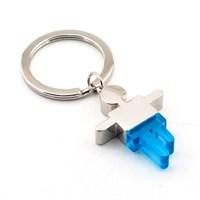 Solfera Erkek Simgesi Parlak Metal Mavi Anahtarlık Kc464