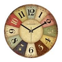 Clockmaker By Cadran Retro Vintage 30X30 Mdf Duvar Saati Cmm100