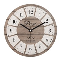Clockmaker By Cadran Retro Vintage 30X30 Mdf Duvar Saati Cmm31