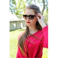 Morvizyon Clariss Marka Siyah Çerçeve Tasarımlı Yeni Trend Bayan Güneş Gözlük Modeli