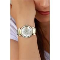 Morvizyon Clariss Marka Gümüş Renk Tasarımlı Metal Kasa Ve Kordonlu Bayan Saat