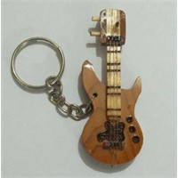 Anahtarlık Ahşap Elektro Gitar A-Ge1
