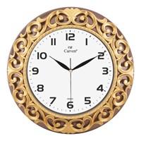 Carven Dekoratif Motifli Duvar Saati Kahve/Altın