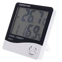Önem Nem Ölçer Higrometre Termometre Alarm Masasaati