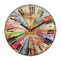 Cadran 140-67 Retro Vintage Bombeli Cam Duvar Saati Renkli Dilimler-2