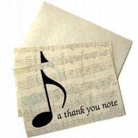 Not İletme Kartı - A Thank You Note
