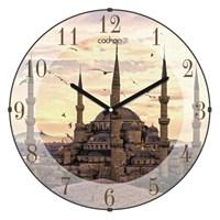 Cadran Bombeli Cam Duvar Saati Sultanahmet