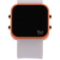 You Watch Orange White Buttons Unisex Kol Saati