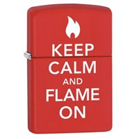 Zippo 233 Keep Calm & Flame On Çakmak