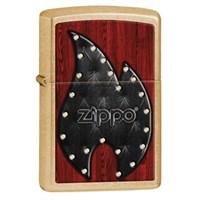 Zippo 207G Leather Flame Çakmak