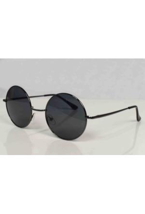 Modaroma John Lennon Siyah Polarized Gözlük