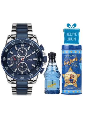 Toms TM10001 Erkek Kol Saati Versace Blue Jeans Edt 75 Ml Erkek Parfüm Hediyeli