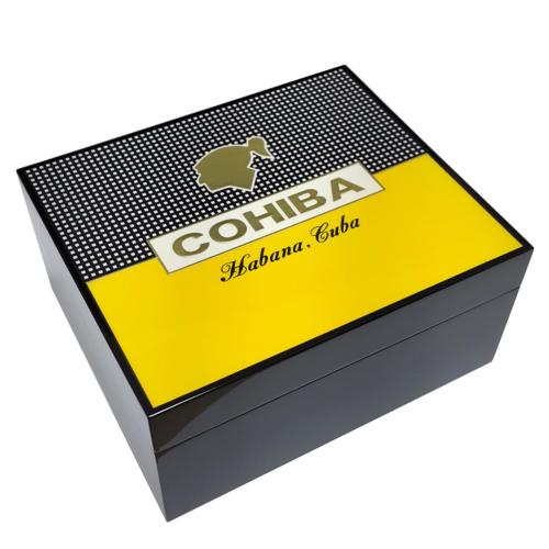 Cohiba Piyano Black Sarı - Siyah Humidor Puro Kutusu ht86