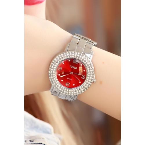 Clariss Gri İç Tasarımlı Bayan Saat
