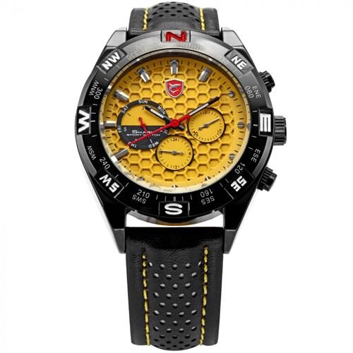 Shark Sh083 Sarı Siyah Spor Erkek Kol Saati