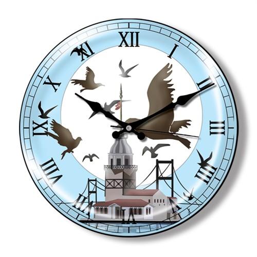 Clocktime By Cadran Dekoratif Bombeli Cam Duvar Saati Ct22