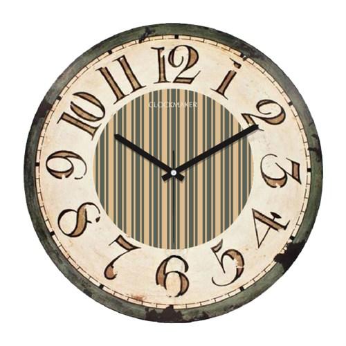 Clockmaker By Cadran Retro Vintage 30X30 Mdf Duvar Saati Cmm149
