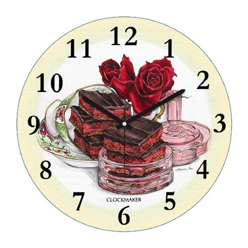 Clockmaker By Cadran Retro Vintage 30X30 Mdf Duvar Saati Cmm156