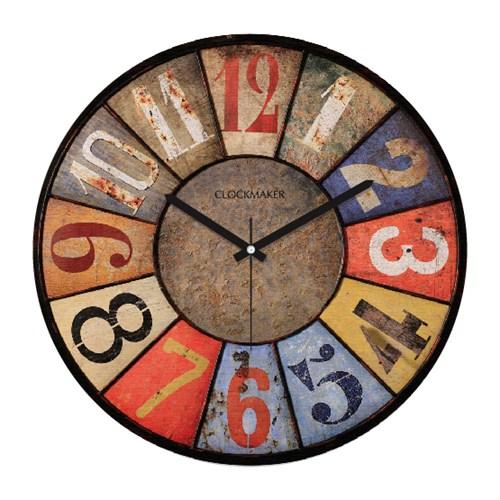 Clockmaker By Cadran Retro Vintage 30X30 Mdf Duvar Saati Cmm42