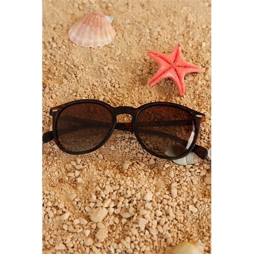 Morvizyon Clariss Marka Kahverengi & Siyah Kendinden Desenli Unisex Güneş Gözlük Modeli