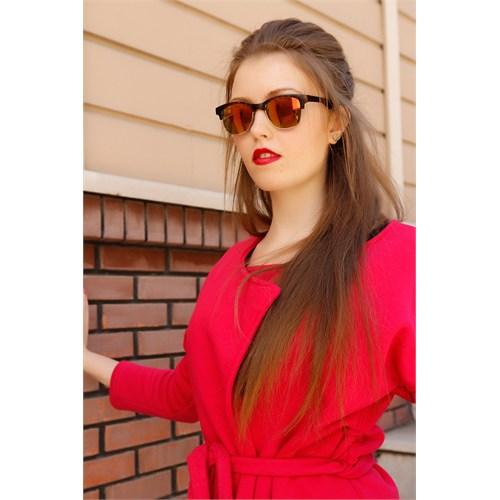 Morvizyon Clariss Marka Kahverengi Renkli Cam Tasarımlı Bayan Güneş Gözlük Modeli
