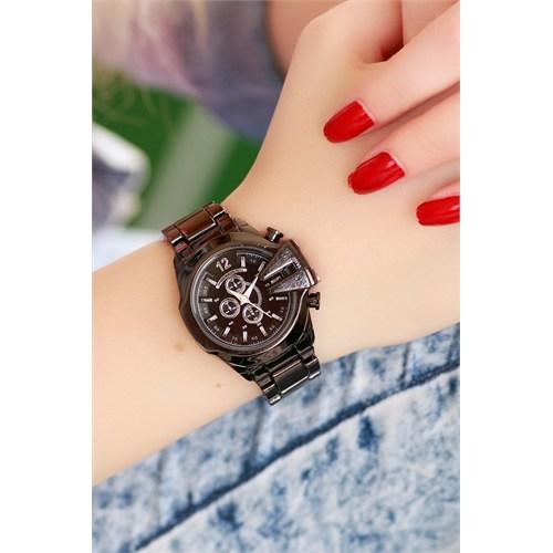 Morvizyon Clariss Marka Koyu Füme Tasarımlı Bayan Saat