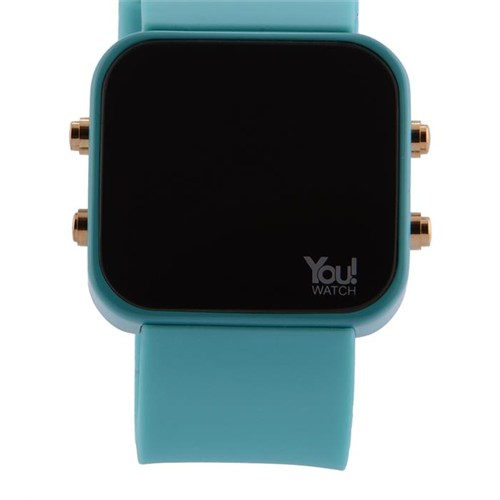 You Watch Turquoise Buttons Unisex Kol Saati