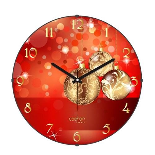 Cadran Luxury Happy Party Bombeli Cam Duvar Saati-11