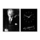 Artmodel Atatürk 2 Parçalı Kanvas Tablo Saat