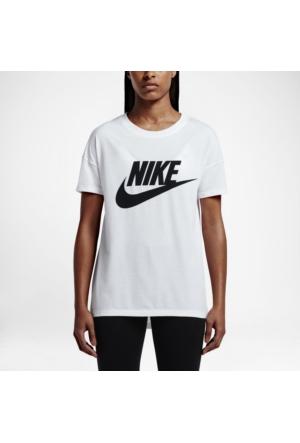 Nike 821993-100 W Nsw Signal Tee Logo Kadın T-Shirt