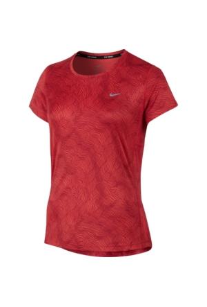 Nike 799560-696 W Nk Dry Miler Top Ss Prnt Kadın T-Shirt