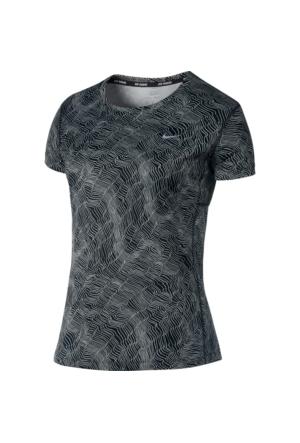 Nike 799560-010 W Nk Dry Miler Top Ss Prnt Kadın T-Shirt