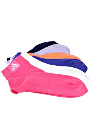 Adidas S24566 Beyaz Pembe Mor Unisex Çorap