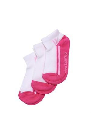New Balance Socks Çorap Beyaz 3-20-00019-Pkg