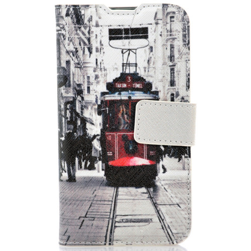 CoverZone LG L70 Kılıf Resimli Kapaklı Taksim