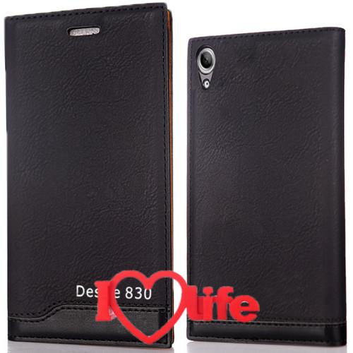 CoverZone Htc Desire 830 Kılıf Vip Magnum Deri Siyah + 3d Araç Kokusu