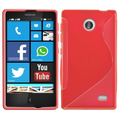 CoverZone Nokia X Kılıf Silikon S-Line Kırmızı