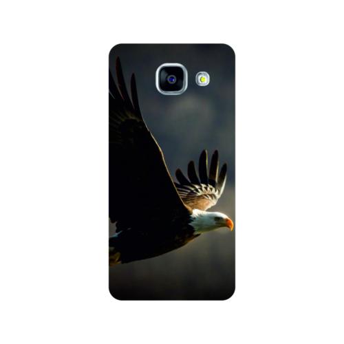 Bordo Samsung Galaxy A5 2016 Kapak Kılıf Kartal Baskılı Silikon