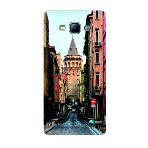 Bordo Samsung Galaxy A8 Kapak Kılıf İstanbul Baskılı Silikon