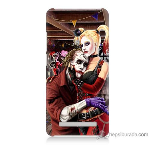 Bordo Asus Zenfone 5 Lite Kapak Kılıf Joker Ask Baskılı Silikon