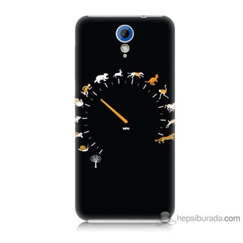Bordo Htc Desire 620 Kapak Kılıf Hız Baskılı Silikon