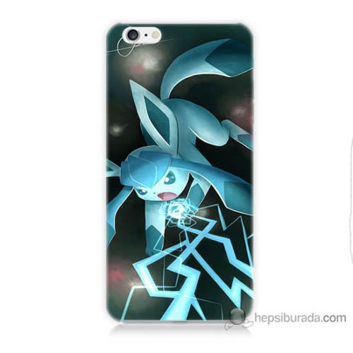 Bordo iPhone 6 Kapak Kılıf Şimşek Pikachu Baskılı Silikon