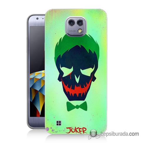 Teknomeg Lg X Cam Kapak Kılıf Joker Baskılı Silikon