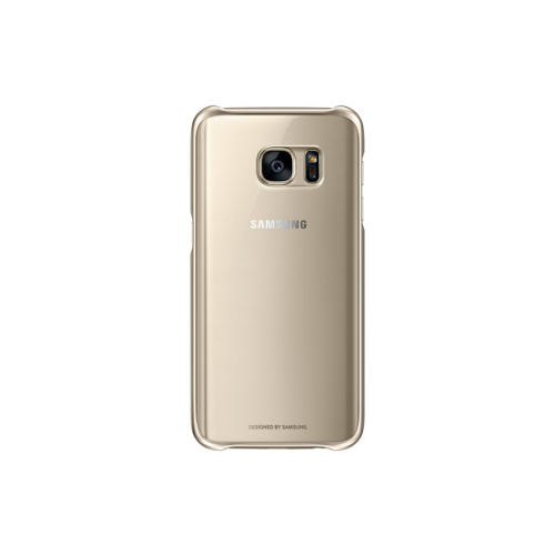 Samsung Galaxy S7 Protective Cover Clear Gold - Ef-Qg930cfegus