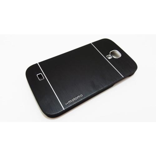 Motomo Samsung Galaxy S4 Motomo Siyah Metal Kılıf