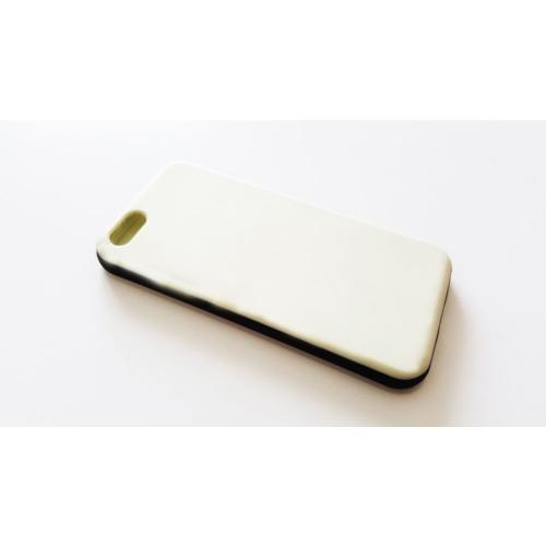 Mobillife Apple İphone 5/5S Siyah Kenar Krem Rubber Kılıf